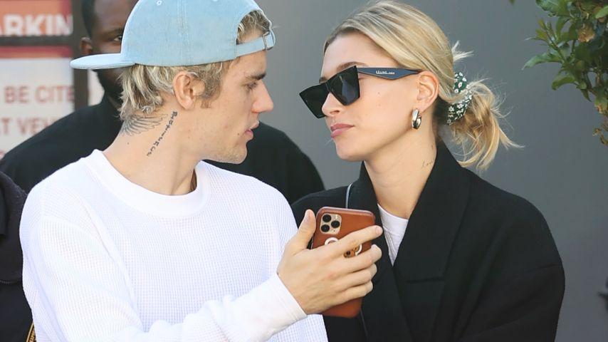 Justin und Hailey Bieber im Februar 2020