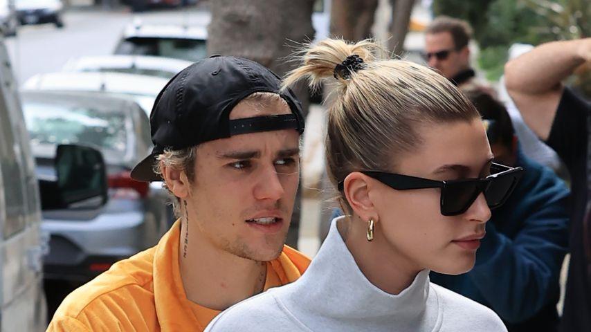 Justin Bieber und Hailey Bieber im März 2020