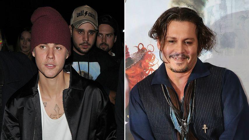 Verwechslung! Johnny Depp & Justin Bieber waren Doppelgänger