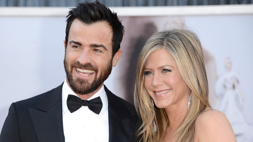Justin Theroux und Jennifer Aniston, Februar 2013