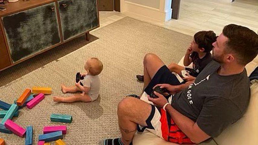 Justin Timberlake mit seinen beiden Söhnen