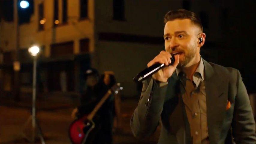 "Justin Timberlake beim TV-Live-Event ""Celebrating America"" im Januar 2021"