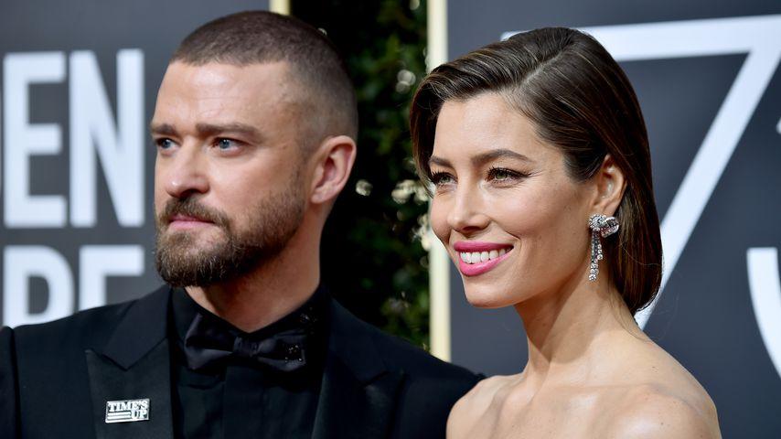 Justin Timberlake und Jessica Biel bei den Golden Globe Awards