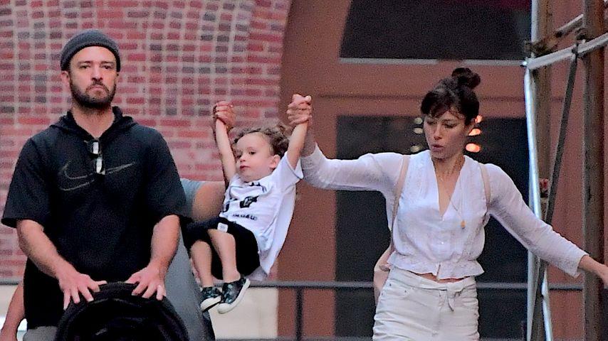 Justin Timberlake und Jessica Biel mit ihrem gemeinsamen Sohn Silas