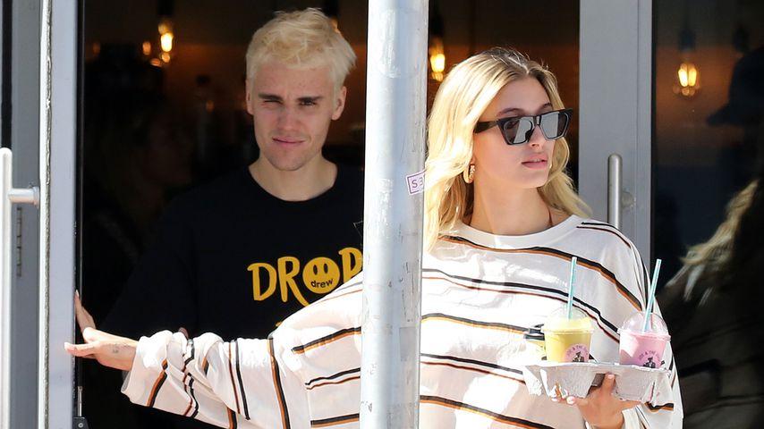 Lässig: Justin und Hailey Bieber beim entspannten Saft-Date!