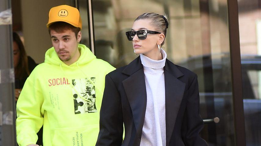 Justin und Hailey Bieber im März 2019 in New York