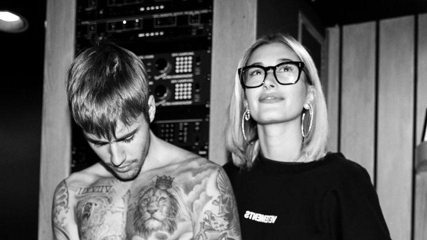 Justin und Hailey Bieber im Tonstudio
