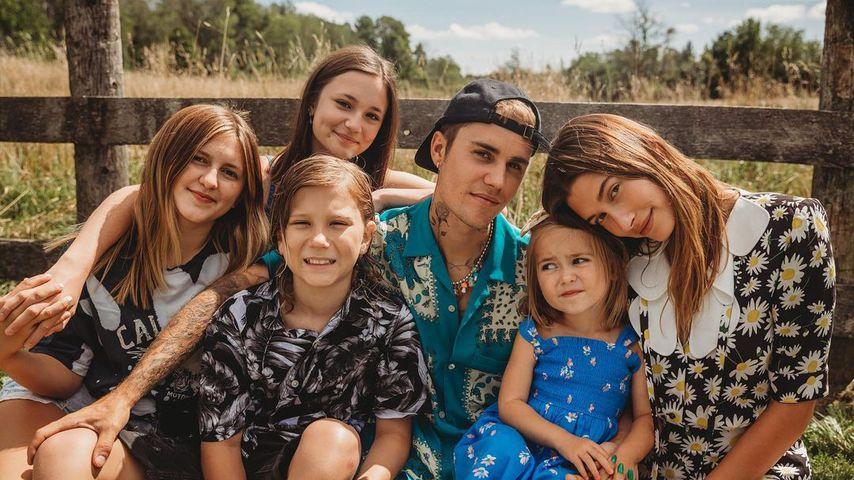 Patchwork-Glück: Justin Bieber postet niedliche Familienpics