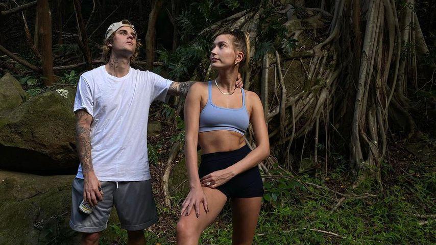 Justin und Hailey Bieber im Januar 2021