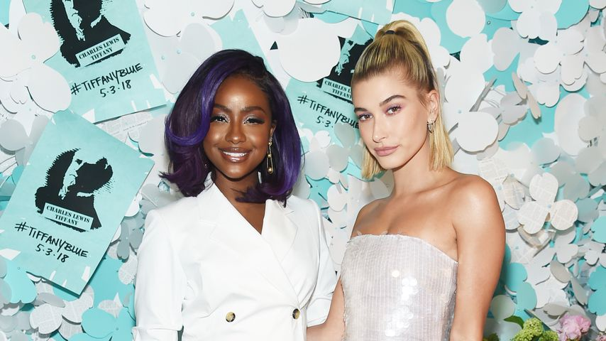 Justine Skye und Hailey Baldwin beim Tiffany & Co. Paper Flowers Event 2018