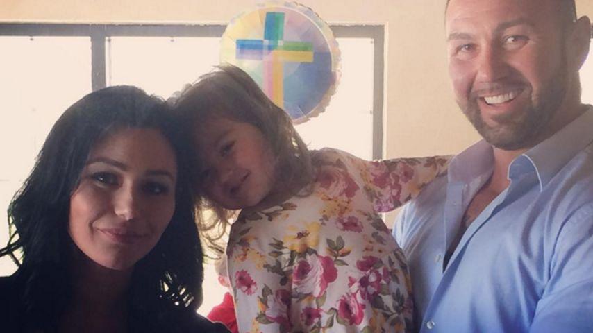 "Jennifer ""JWoww"" Farley, Roger Mathews und Meilani Alexandra Mathews"