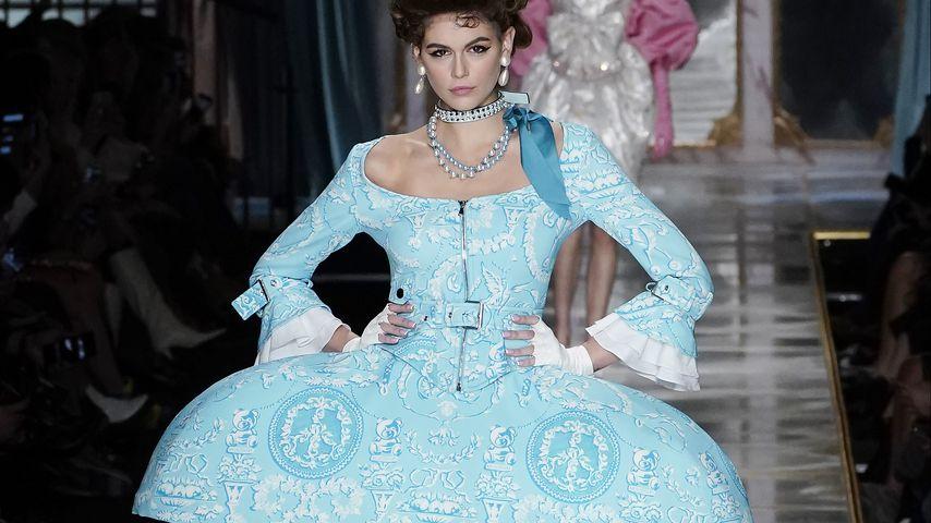 Kaia Gerber auf der Fashion Week in Mailand, 2020