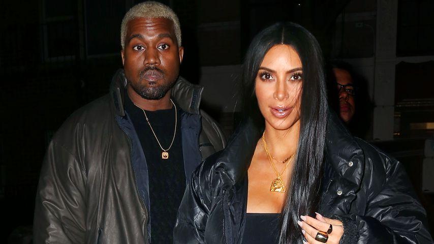 Kanye West und Kim Kardashian nach ihrem Valentinstags-Dinner in New York