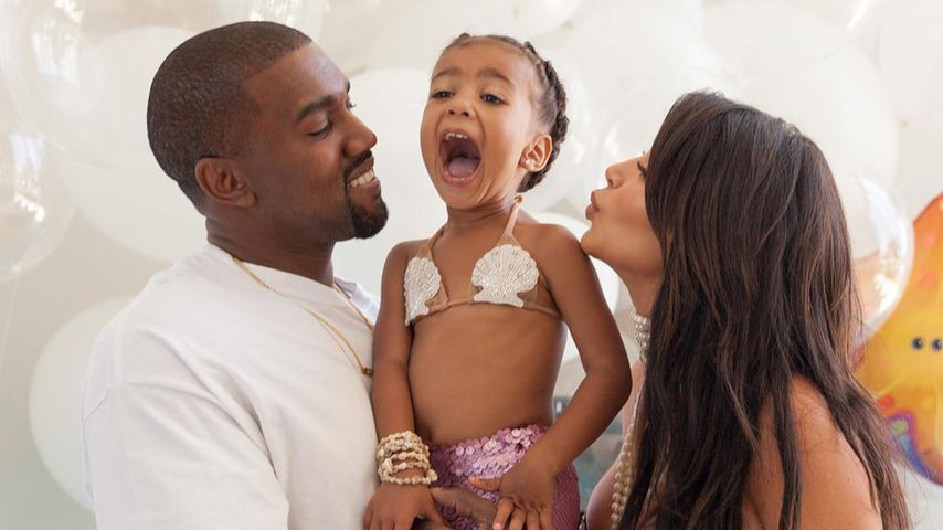 Kanye West, North West und Kim Kardashian