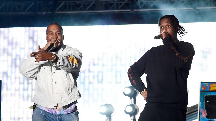 Kanye West und A$AP Rocky, 2016