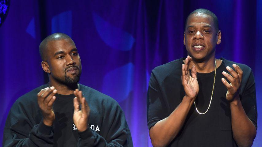 Kanye West und Jay-Z im März 2015 in New York