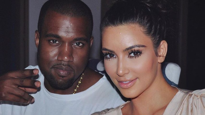 Kim Kardashian teilt cooles Throwback-Selfie mit Kanye West!