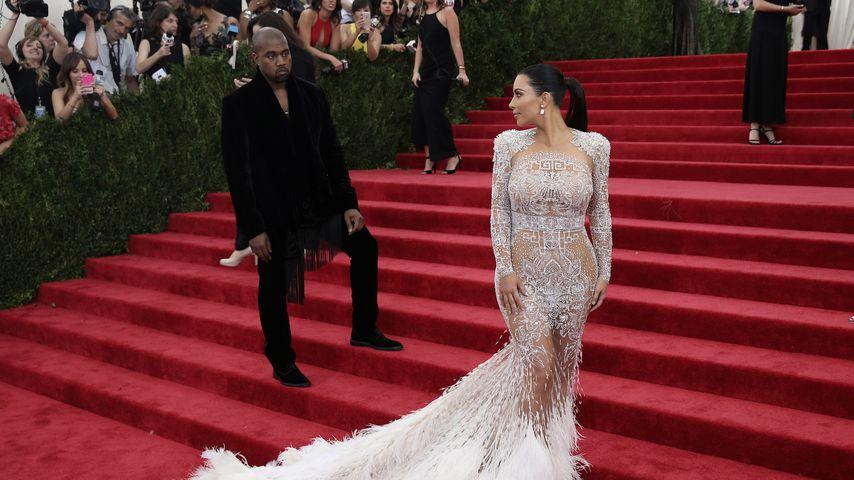Kanye West und Kim Kardashian bei der Met Gala 2015