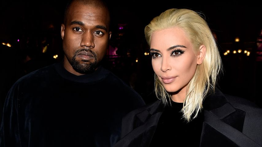 "Kanye West und Kim Kardashian bei der ""Paris Fashion Week"" 2016"