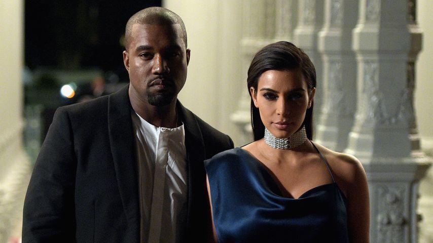 Kanye West und Kim Kardashian im Jahr 2014