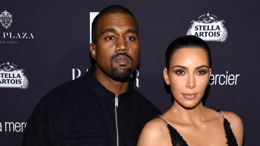 Kanye West und Kim Kardashian bei einem Promi-Event in New York