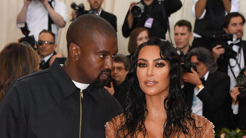 Rapper Kanye West und seine Frau Kim Kardashian bei der Met Gala 2019
