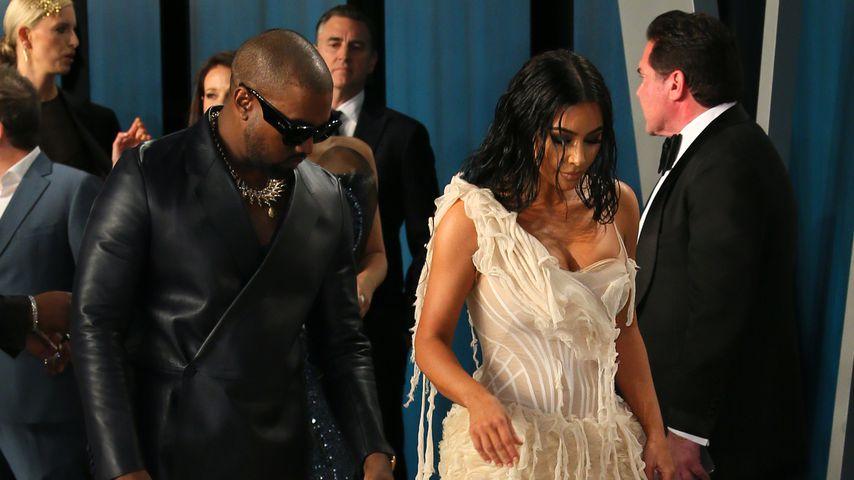 Kanye West und Kim Kardashian bei der Vanity Fair Oscar Party 2020