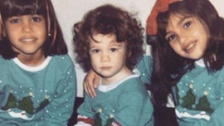 Die Kardashian-Schwestern im Jahr 1986