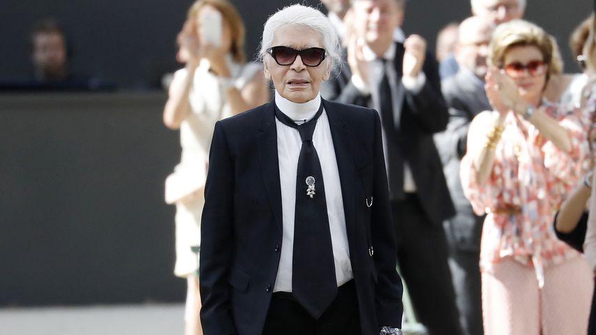Karl Lagerfeld bei einer Chanel Show in Paris im Juli 2017