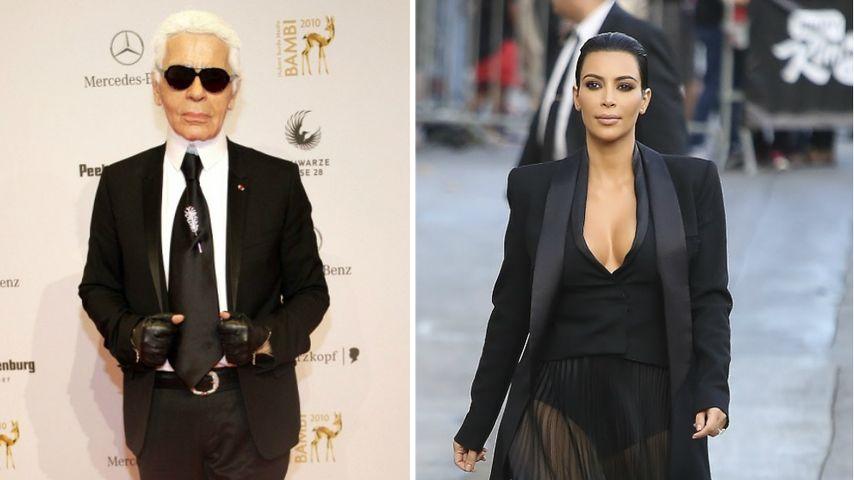 Fashion-Adel: Karl Lagerfeld schwärmt von Kim Kardashian