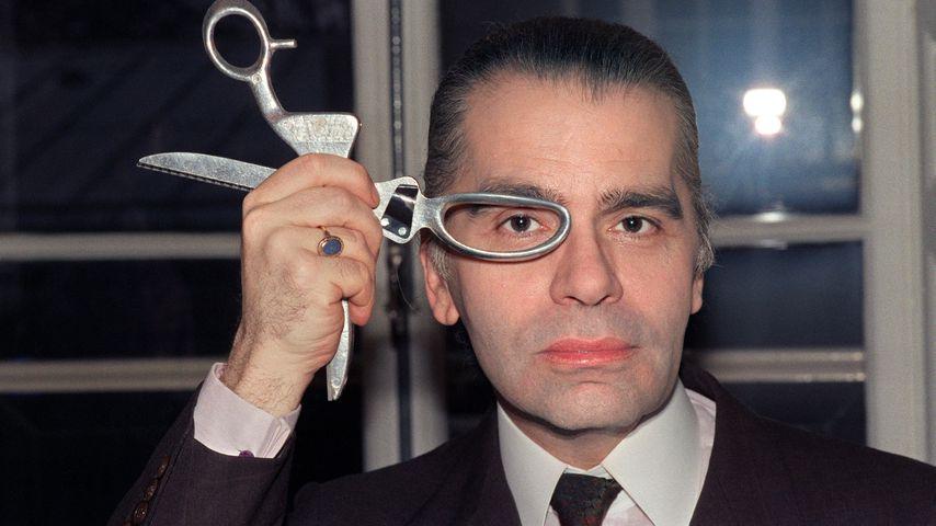 Karl Lagerfeld im März 1987