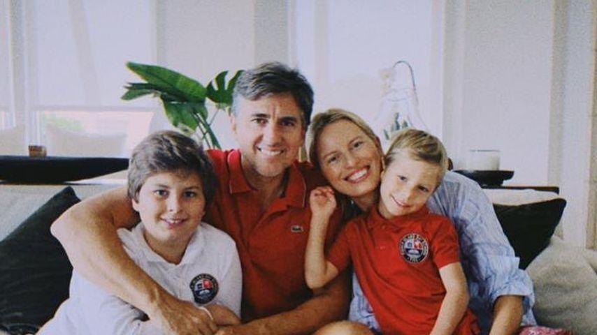 Karolina Kurkova mit ihrem Mann und ihren zwei Söhnen im Juni 2020 in Miami