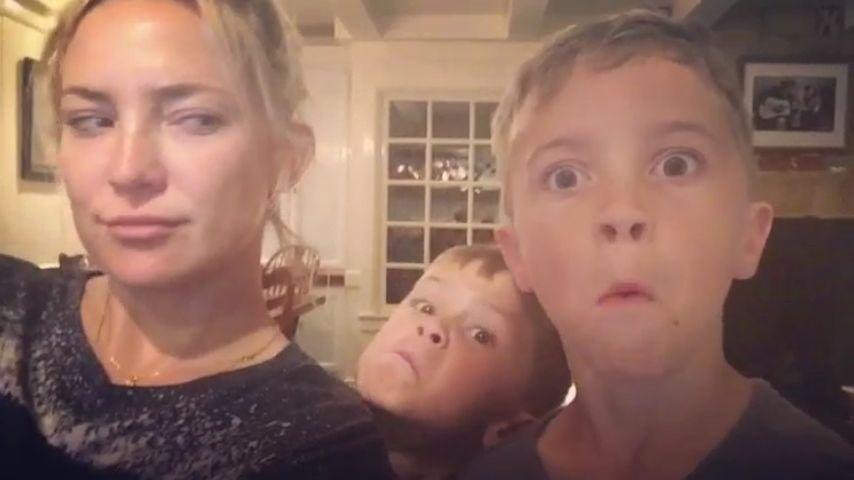 Pyjama-Party! Kate Hudson macht Schabernack mit ihren Neffen