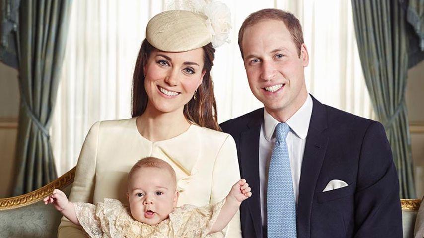 Entzückend! Prinz George jubelt nach der Taufe