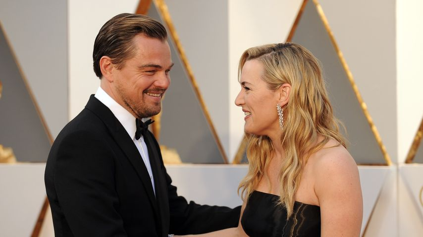 Kate Winslet und Leonardo DiCaprio bei den Oscars 2016