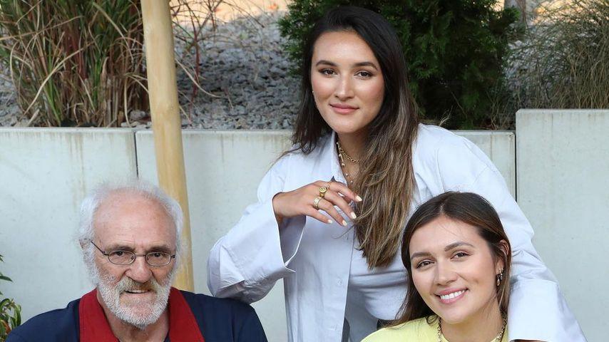 Katharina und Anna Maria Damm mit ihrem Papa