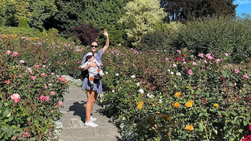 Katharine McPhee und ihr Sohn Rennie im September 2021