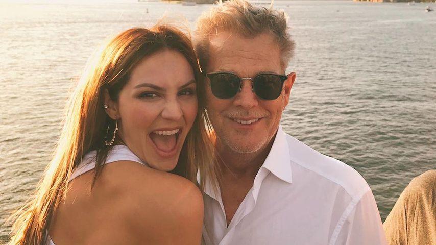 David nun doppelt so alt: Kat McPhee (35) feiert Gatten (70)