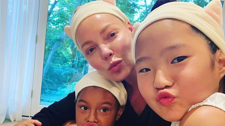 Katherine Heigl mit ihren Töchtern Adalaide und Naleigh