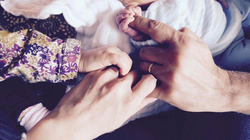 Katherine Jenkins erstes Familienfoto mit Sohn Xander