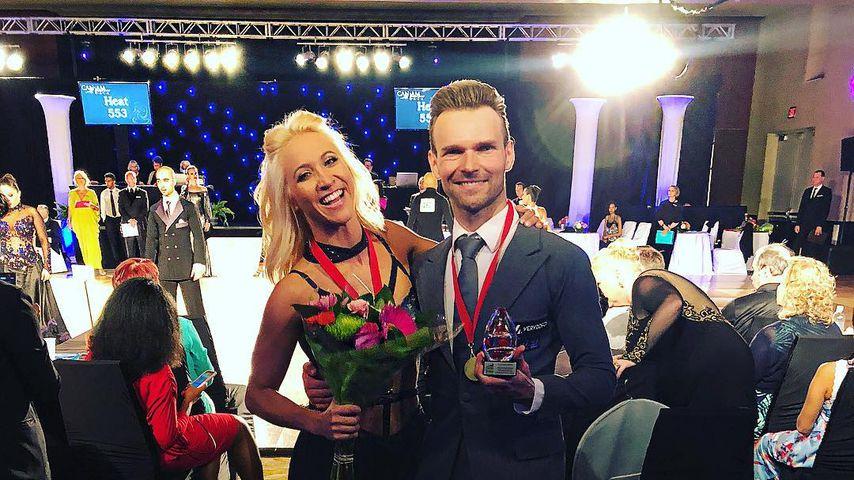 Kathrin Menzinger und Vadim Garbuzov bei der Can-Am DanceSport Gala in Kanada