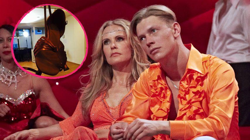 """Eine Qual! Katja Burkard leidet beim """"Let's Dance""""-Training"""