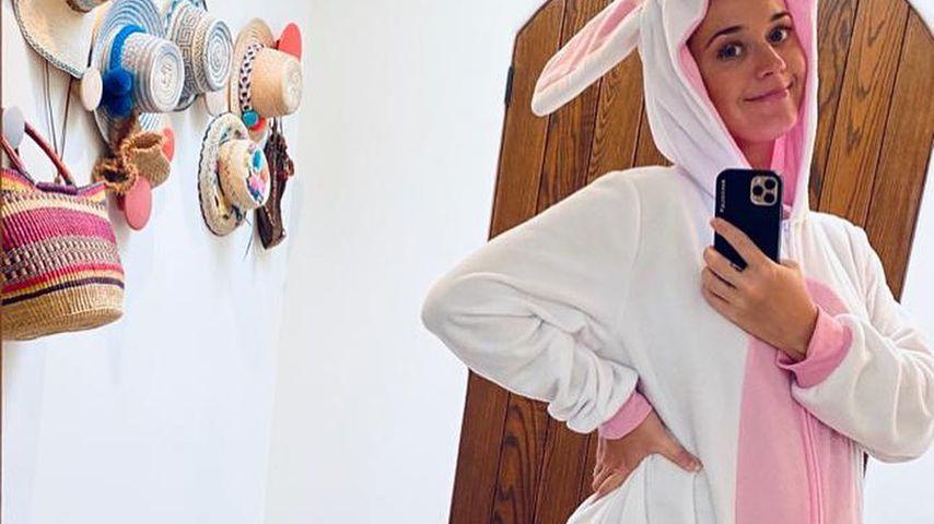 Ultrasüß: Hier posiert Katy Perry als schwangerer Osterhase