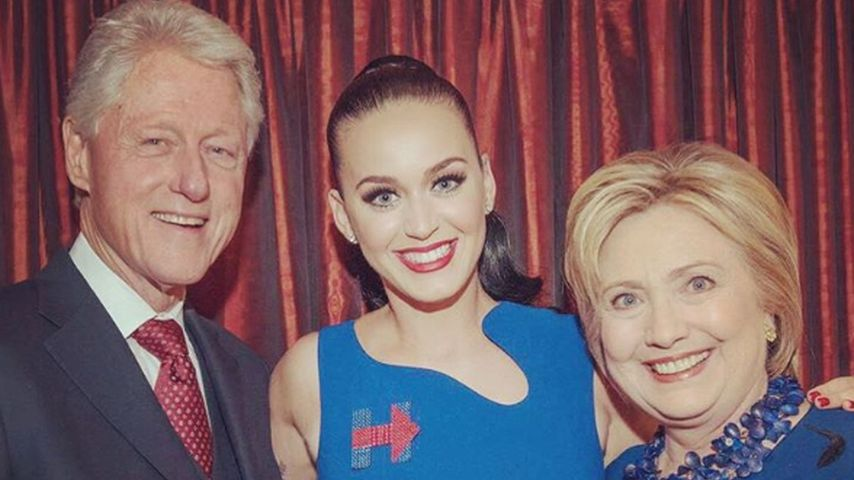 Katy Perry zusammen mit den Clintons