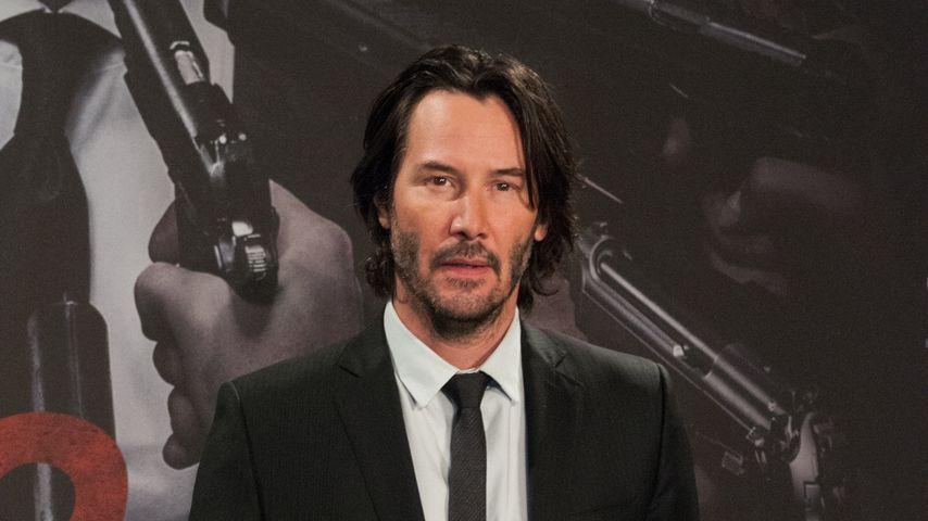 Keanu Reeves bei der Pressekonferenz in Berlin