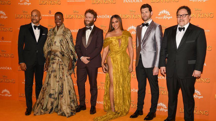 Keegan-Michael Key, Florence Kasumba, Seth Rogen, Beyoncé, Billy Eichner und Jon Favreau