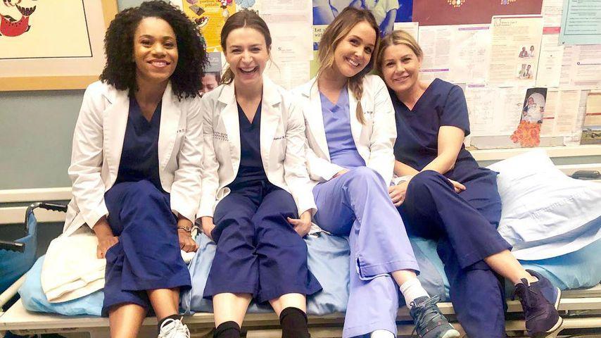"""Kelly McCreary, Caterina Scorsone, Camilla Luddington und Ellen Pompeo am Set von """"Grey's Anatomy"""""""