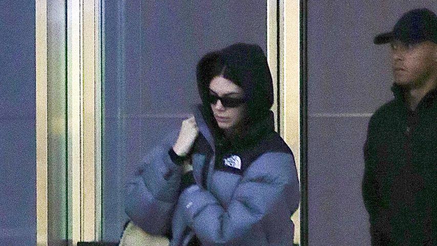 Kendall Jenner am New Yorker Flughafen