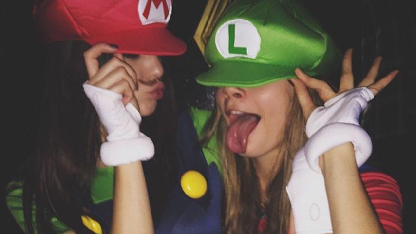 Kendall Jenner und Cara Delevingne an Halloween 2014