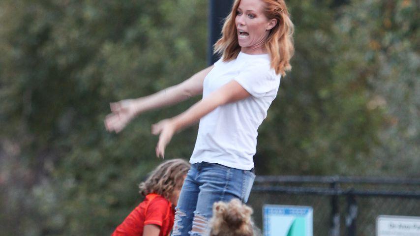 Kendra Wilkinson mit ihren Kindern Alijah und Hank